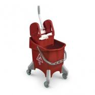 Upratovací vozík TTS Pile, červený