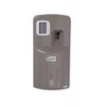 Rad zásobníkov Tork Aluminium svojím štýlovým dizajnom vytvorí exkluzívny moderný vzhľad na Vašich toaletách a umyvárňach a zanechá trvalý dojem na hosťoch a návštevníkoch. Systém A1 - Systém osviežovača vzduchu, Materiál: Kov / plast, Farba: Hliník / sivá, Šírka: 84 mm, Výška: 168 mm, Hĺbka: 66 mm