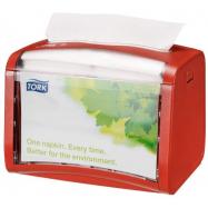 Tork Xpressnap® stolný zásobník na servítky, červený