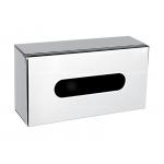 Zásobník na vyťahovacie papierové obrúsky pre balenie 100 ks. Umiestnenie na stenu alebo na postavenie. Materiál nerez - lesk.