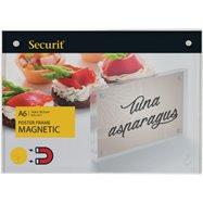 Akrylátový obojstranný A6 rámček pre vloženie plagátiky so silnými magnetmi