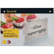 Akrylátový obojstranný A7 rámček pre vloženie plagátiky so silnými magnetmi
