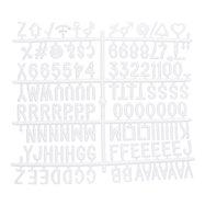 Prídavná písmená, čísla a znaky k tabuliam s nasadzovacím písmenami