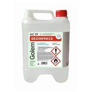 Alkoholová dezinfekcia s glycerínom GOLEM AC19, 5l