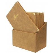 Box s jedálenskými lístkami Securit Classic - béžová