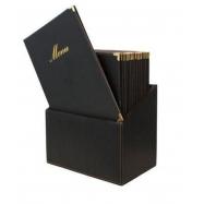 Box s jedálenskými lístkami Securit Classic - čierna