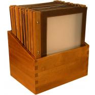 Box s jedálenskými lístkami Securit Wood Line - hnedá