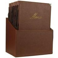 Box s jedálenskými lístkami Securit Classic - hnedá