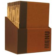 Box s jedálenskými lístkami Securit Trendy - svetlo hnedá