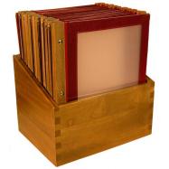Box s jedálenskými lístkami Securit Wood Line - vínová