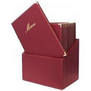 Box s jedálenskými lístkami Securit Classic - vínová
