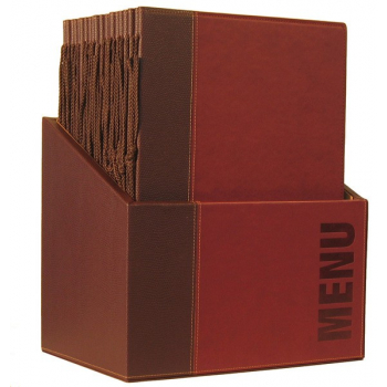 Box s jedálenskými lístkami Securit Trendy - vínová