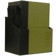 Box s jedálenskými lístkami Securit Trendy - zelená