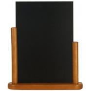 Stolný stojanček Securit s popisovacou tabuľkou veľký - Teak