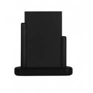 Stolný stojanček Securit s popisovacou tabuľkou malý - čierna