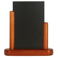 Stolný stojanček Securit s popisovacou tabuľkou malý - Mahagón