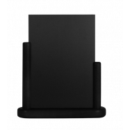 Stolný stojanček Securit s popisovacou tabuľkou stredný - čierna