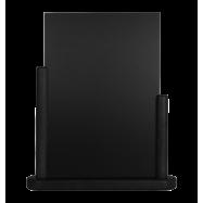 Stolný stojanček Securit s popisovacou tabuľkou veľký - čierna