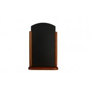 Stolný stojanček Securit s popisovacou tabuľkou veľký - tmavo hnedá