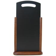 Stolný stojanček Securit s popisovacou tabuľkou XL - tmavo hnedá