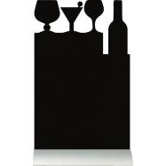 Stolná popisovacia tabuľa Securit s hliníkovým stojanom s 1 popisovačom COCKTAIL