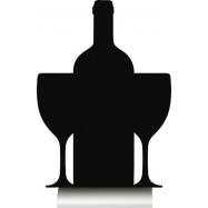 Stolná popisovacia tabuľa Securit s hliníkovým stojanom s 1 popisovačom WINE