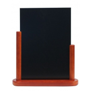 Stolný stojanček Securit s tabuľkou 21x30 cm lakovaný mahagónový