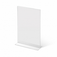 Stolný plexi stojanček A5 na výšku 215x150 mm