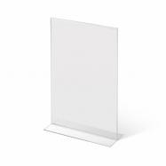 Stolný plexi stojanček A6 na výšku 150x105 mm