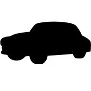 Popisovacie tabule Securit Silhouette AUTO, vr. popisovače a upevňovacie pásky na stenu - čierna