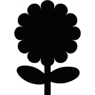 Popisovacia tabuľa Securit Silhouette KVETINA, vr. popisovača a upevňovacej pásky na stenu - čierna