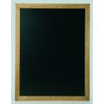 Nástenná obojstranná tabuľa, 60x80 cm, lakovaná, Teak