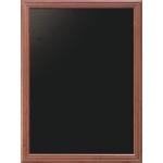 Nástenná obojstranná tabuľa 80x100 cm, Mahagón