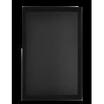 Nástenná obojstranná tabuľa Universal 70x90 cm, lakovaná, čierna