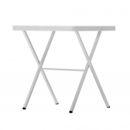 Viacúčelový skladací štvorcový stôl BISTROT 70 - biely