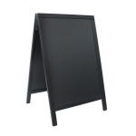 Duplo (A-tabuľa) 55x85 cm, lakovaná, čierna