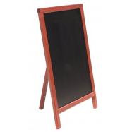 A - tabuľa 55 x 85 cm Securit Mono s opierkou - Mahagón