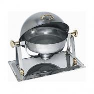Pozlátený chafing dish na horľavú pastu