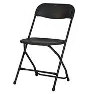 Plastová skladacia stolička Alex chair - čierna