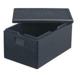 ECO termobox GN 1/1 vyrobený z expandovaného polypropylénu (nie polystyrénu), odolného proti poškodeniu, s dlhou životnosťou.