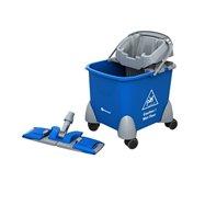 Upratovací vozík PIKO, vedro + držiak mopu