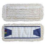 vyroben z bavlněné příze,zesílená základní osnova mopu.