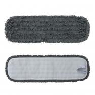 Mop z mikrovlákna STANDARD, suchý zips, 47 cm, šedý