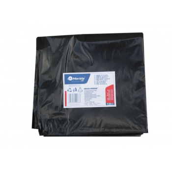 Vrecia na odpadky LDPE, 38 mi, 70x110cm, 120 l, čierne 50 ks/b