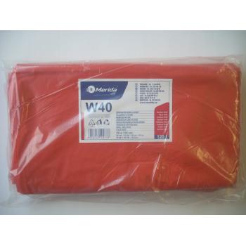 Vrecia na odpadky LDPE, 38 mi, 70x110cm, 120 l, červené 50 ks/b