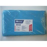 Vrecia na odpadky LDPE, 38 mi, 70x110cm, 120 l, modré 50 ks/b