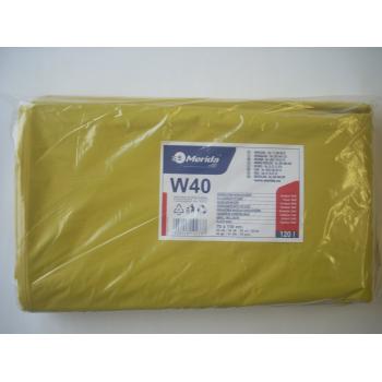 Vrecia na odpadky LDPE, 38 mi, 70x110cm, 120 l, žlté 50 ks/b