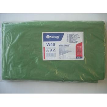 Vrecia na odpadky LDPE, 38 mi, 70x110cm, 120 l, zelené 50 ks/b