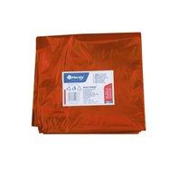 Vrecia na odpadky LDPE, 40 mi, 90x110cm, 160 l, červené. 10ks/b