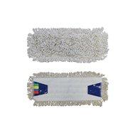 Mop sa záložkami ECONOMY 40 cm, bavlna, biely